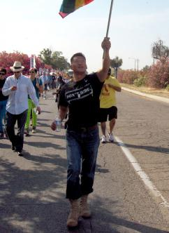 """Lt. Dan Choi, another victim of the Pentagon's """"don't ask, don't tell"""" program, marches for equality in Fresno (Ashley Simmons 