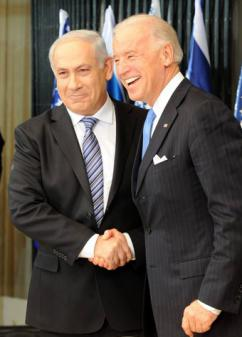 Vice President Joe Biden with Prime Minister Benjamin Netanyahu during his recent visit to Israel