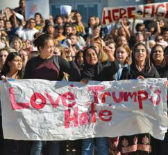 Students march against Trump and the far right at UC Berkeley