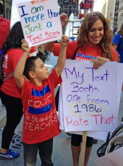 Chicago teachers sent the message that their working conditions are their students' learning conditions (Annie Levin | SW)