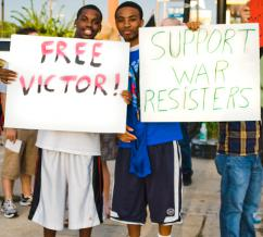 We support war resister Victor Agosto! (Mahesh Brown | SW)