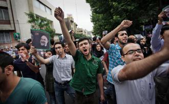 A protest against the regime of President Mahmoud Ahmadinejad