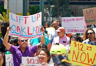 Oakland residents rally for the Lift Up Oakland referendum (Lift Up Oakland)