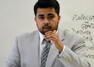 University of Southern Maine Student Body President Humza Khan