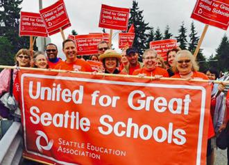 Seattle teachers rally support in their fight for quality public education (Seattle Education Association)