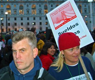 Members of United Educators of San Francisco at a 2006 rally (Michael McCauslin)