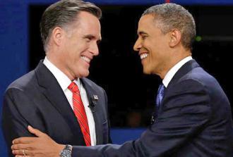 Mitt Romney and Barack Obama meet at their second debate