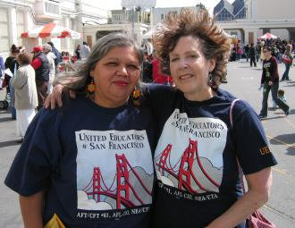 Members of United Educators of San Francisco at a protest