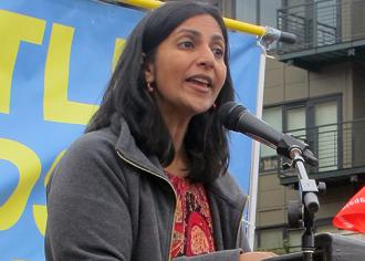 Socialist activist and Seattle City Council member Kshama Sawant (Shannon Kringen)