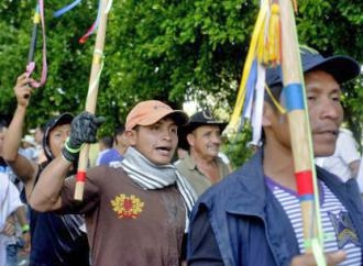 Colombian campesinos protest in the Catatumbo region
