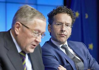 Eurogroup President Jeroen Dijesselbloem (right) with Chief Executive Officer Klaus Regling (EU Council)