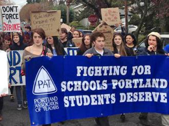 Portland students march in solidarity with their teachers (Portland Student Union)