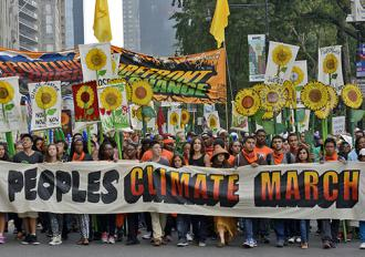 New York City was the site of the largest climate justice march ever (Stephen Melkisethian)