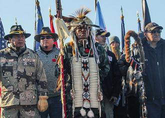 Veterans are taking part in the fight against the Dakota Access Pipeline