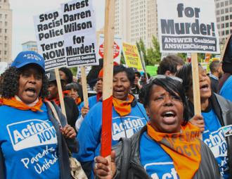 Thousands of people came to St. Louis for Ferguson October to continue the struggle against police violence (Bob Simpson)