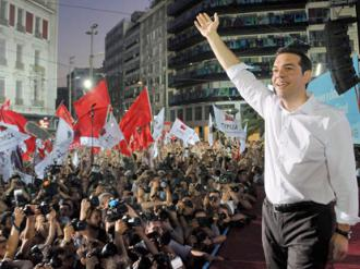 SYRIZA leader Alexis Tsipras speaks in Athens right before the election