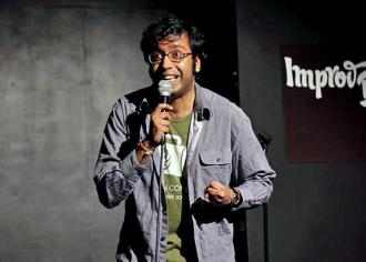 Hari Kondabolu performs stand-up
