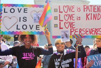 Celebrations of the Supreme Court's marriage equality ruling spread nationwide (Elvert Barnes)