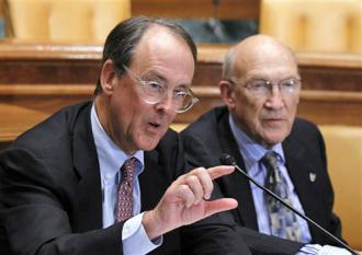 Deficit reduction commission co-chairs Erskine Bowles and Alan Simpson