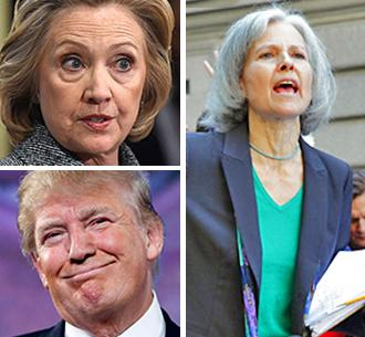 Presidential candidates Hillary Clinton, Donald Trump and Dr. Jill Stein