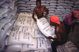 Neoliberal policies have made Haiti subsistent on food imports, often in the form of food aid (Giuseppe Bizzarri)