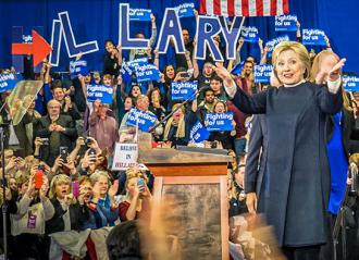 Hillary Clinton speaking to supporters on the 2016 campaign trail (Ted Eytan)