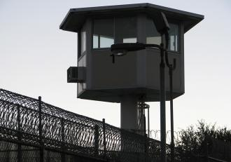 Prison guard tower in California