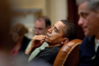 President Obama during a meeting with Cabinet members (Pete Souza)