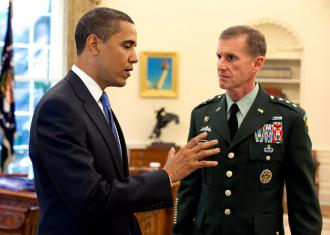 President Obama meets with Gen. Stanley McChrystal in the Oval Office (Pete Souza)