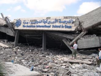 The American School in Gaza was destroyed during Israel's onslaught (Laura Durkay | SW)