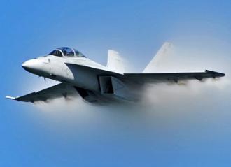 An F18 fighter jet (John Krzesinski)