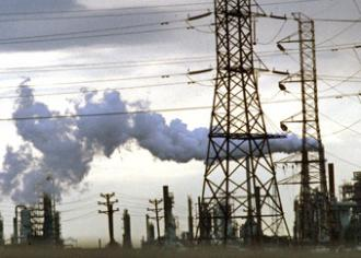 A factory in New Jersey pumps out pollution (John Isaac)