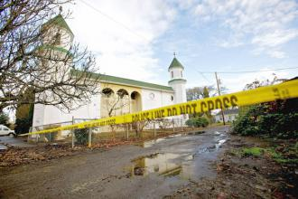 The Salman Alfarisi Islamic Center in Corvallis, Ore., damaged by arson