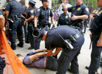 New York police on a rampage against demonstrators from Occupy Wall Street (Brennan Cavanaugh)
