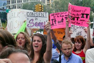 New Yorkers march against sexual violence and victim-blaming at NYC SlutWalk (Charlotte Cooper)