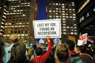 Tens of thousands march as part of the Occupy Wall Street protest (Eric Hart)