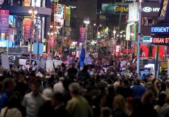 Occupied Times Square full to the brim with protesters (Phil Stearns)