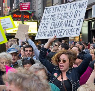 Protester flood into Times Square on global occupy day (Mat McDermott)