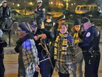 Occupy Chicago activists being arrested in Grant Park on October 22 (Timmy Caldwell)