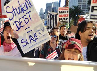 Occupy San Francisco marches against the corporatization of education and growing student debt (Eric Wagner)