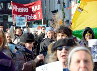 Occupy Pittsburgh on the march in December (Mark Haller)