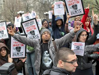 Thousands of protesters marching for justice in New York City (Joe Lustri)