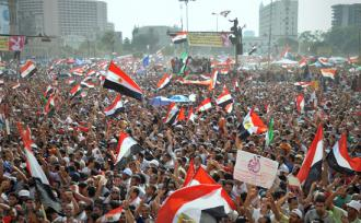 Thousands celebrated in Tahrir Square when Mohamed Morsi was declared the winner of presidential election (Jonathan Rashad)