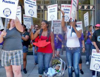 Striking BART workers take to the picket lines (Labor Video Project | Indybay.org)