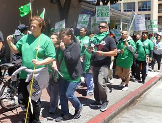 AFSCME health care workers at UCSF walk the picket line (Labor Video Project)