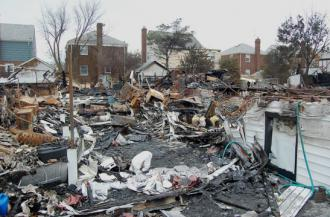 A house in Rockaway demolished by the storm surge from Hurricane Sandy (Jeremy Zilar)