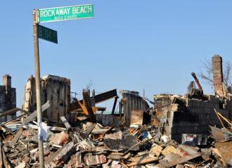 Rockaway Beach Boulevard after Hurricane Sandy
