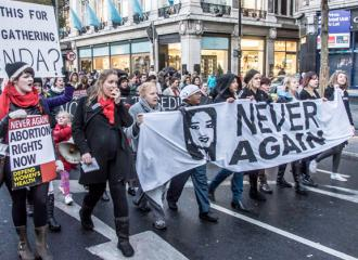 Thousands march in Dublin in memory of Savita Halappanavar and to demand abortion rights (William Murphy)