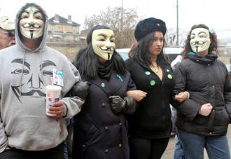 Supporters of Jane Doe gathered outside the courtroom during the rape trial in Steubenville
