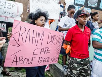 Students protest Emanuel's plan to close dozens of Chicago elementary schools (Sarah-ji)